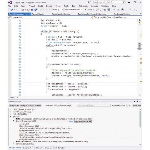 Статический анализатор языка C# SharpChecker